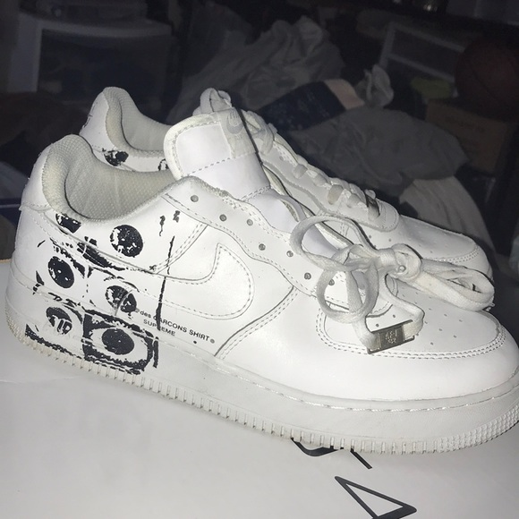 new arrival 53922 c159f Authentic CDG x Supreme x AF1 white